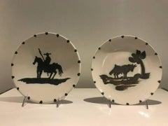 1. Bull Under the Tree AND 2.Picador -- Picasso Madoura Ceramic Ramie 159 & 160
