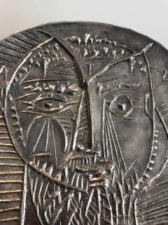 Visage De Faun Silver Plate Picasso