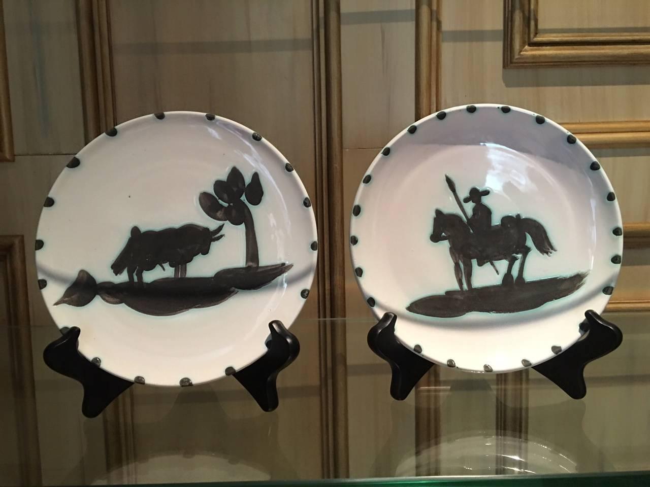Bull Under the Tree / Picador Ramie 159 and 160 Picasso Madoura Ceramic