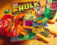Cheetos Hulk Signed and Numbered Framed Limited Edition on Canvas