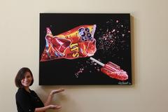 Pop Rocks #9 Signed and Numbered Limited Edition on Canvas
