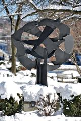 """Screen Sculpture #109"" Outdoor Painting Steel Sculpture by David Hayes"