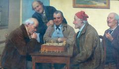 Italian men during a Chess Match