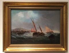 English fishing boats off the coast of England