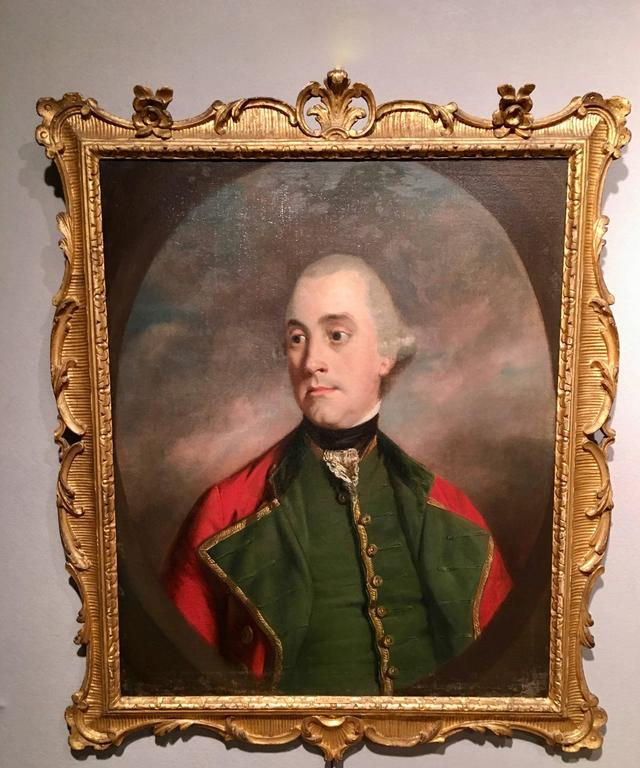 English 18th century Portrait of a Dorset Yeomanry Officer in Military uniform