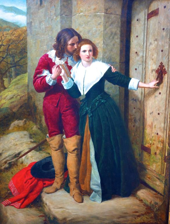 English Victorian scene of Romeo and Juliet in Cavalier costume