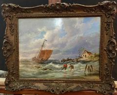 Shipping off the Dutch Coastline in Rough Seas