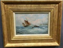 English fishing boat, at Sea off the English coastline