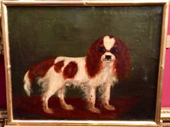 Wonderful English 19th century Folk Art King Charles Cavalier Spaniel
