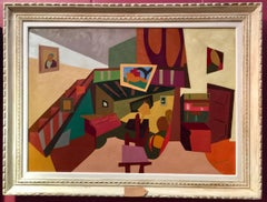 French Cubist mid century Interior