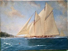 English Yachting scene, off of Cowes