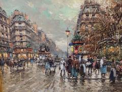 Impressionist Paris Street Scene