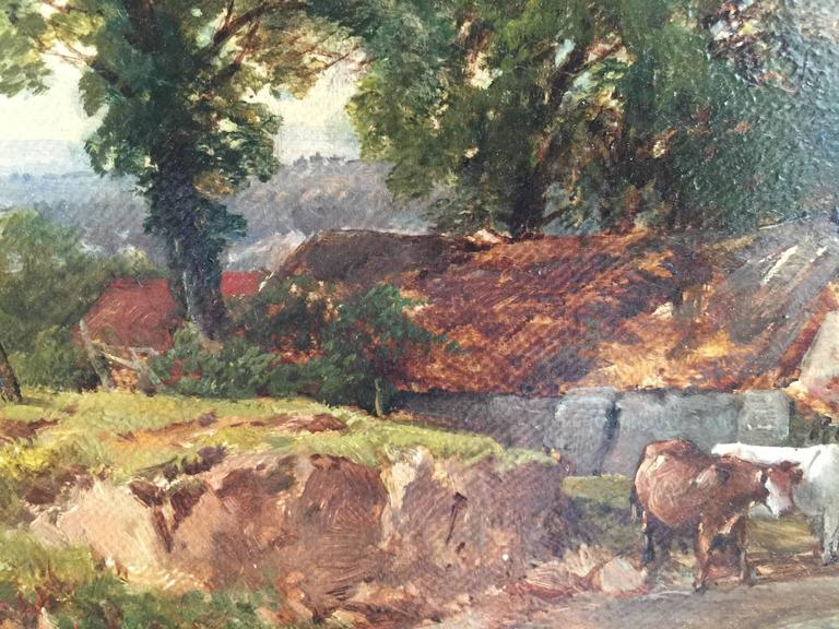 John Syer was a landscape painter, and the father of James S (q.v.). Syer studied with J. Fisher, a miniaturist in Bristol and exhibited his works at the Royal Academy 1846 - 75, British Institute, Suffolk Street, New Watercolour Society, Grosvenor