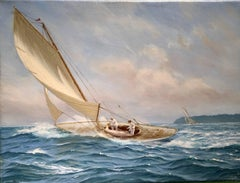 English Yachting scene, off of Cowes, England