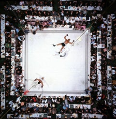 Aerial view, Muhammad Ali victorious over Cleveland Williams, Color Photography