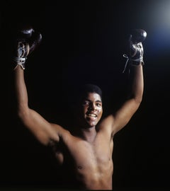 Ali with Arms Raised, Color Photography, Fine Art Print, Sports Photography