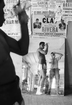 Cassius Clay & Marvin Newman, 5th Street Gym, Miami, Black & White Photography