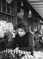 Bob Dylan Playing Chess, Woodstock, NY