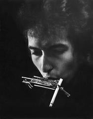 Bob Dylan with Cigarette in Harmonica Holder, Philadelphia, PA