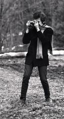Bob Dylan with Camera, Woodstock, NY