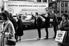 Bob Dylan, Peter Yarrow & John Hammond Jr. Hailing Taxi, NYC