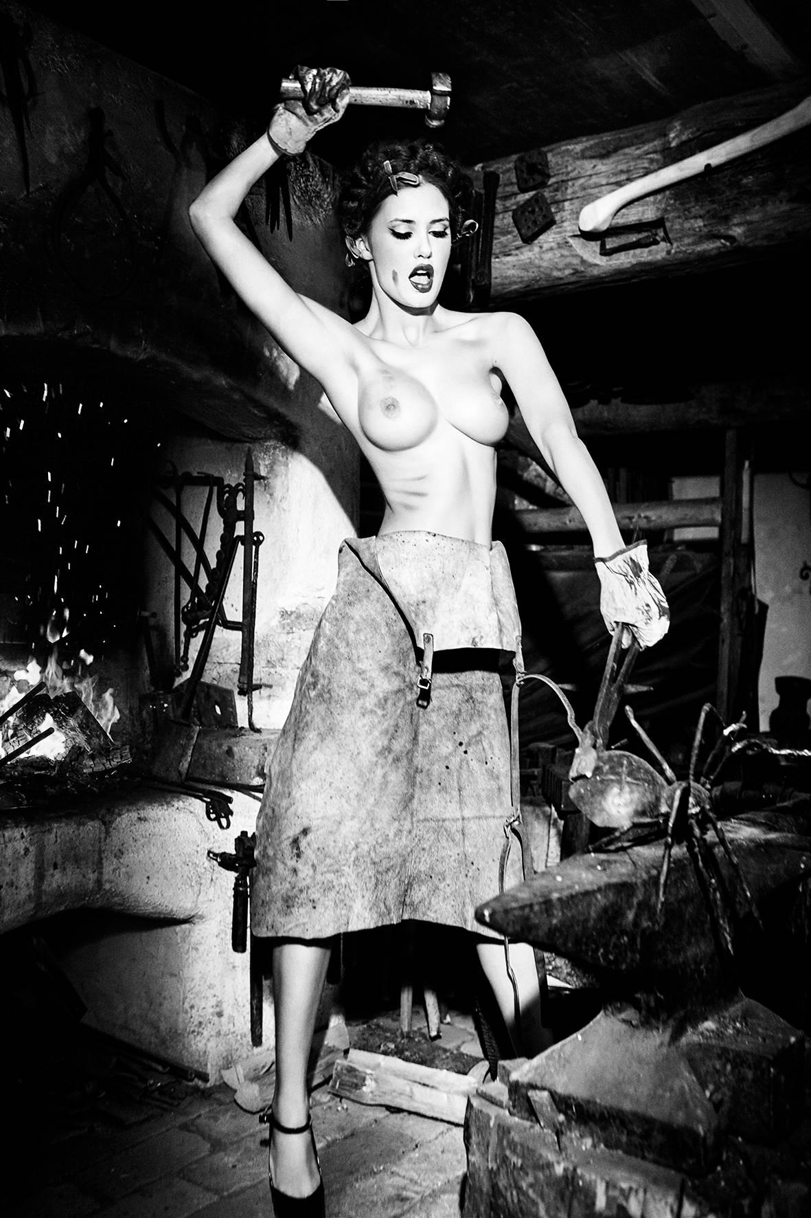 Beating It While It's Hot, Bavaria, Black & White Photography, Fine Art Print