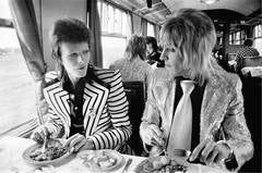 Bowie and Ronson, Lunch on Train to Aberdeen