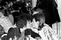 Lou Reed and David Bowie Kiss, Black & White Photography, Fine Art Print
