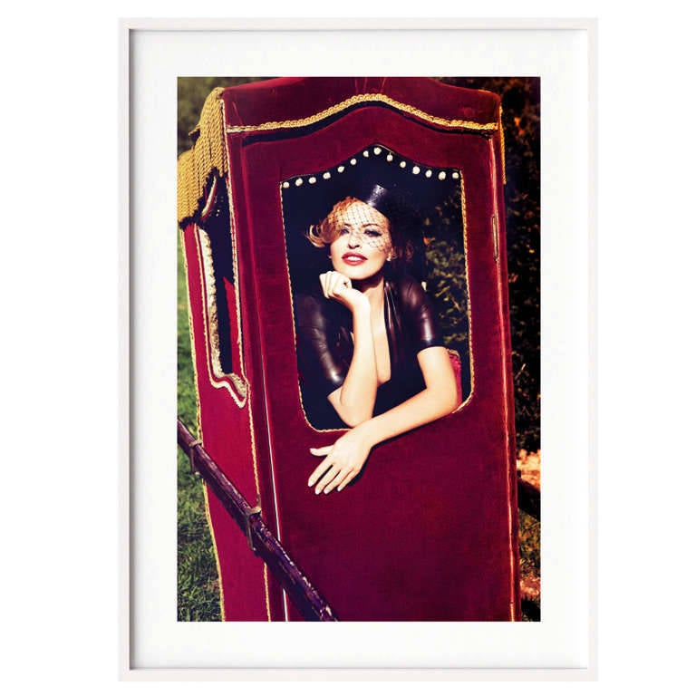 Art Edition Book: 13.0 x 17.2 in. Pigment Print: 15.8 x 11.8 in.  Art Edition limited to 125 copies (numbered 126-250), each with the signed and numbered pigment print by Ellen von Unwerth:   Art Edition B (No. 126-250) The Widow From the