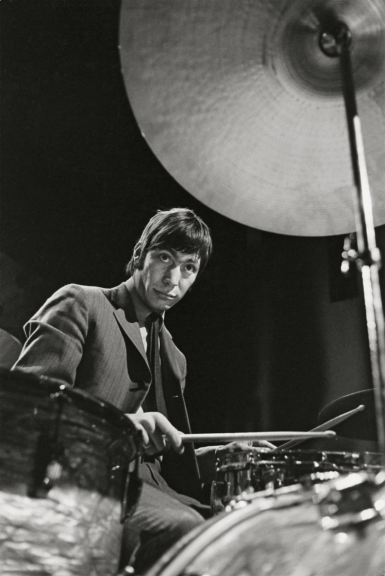 bent rej   the drummer   charlie watts on stage