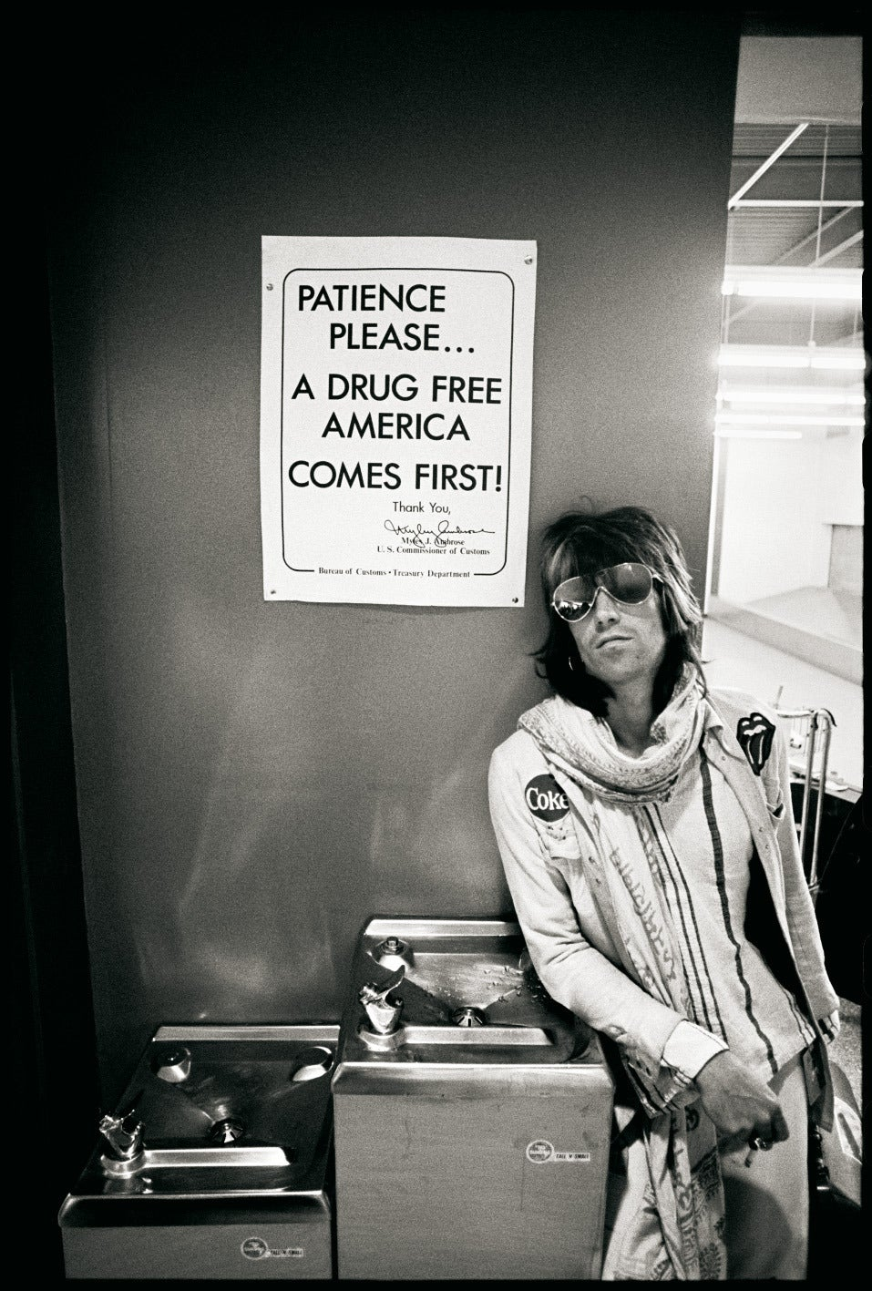 "Keith Richards ""Patience Please a Drug Free America Comes First"""