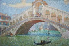 Rialtobrücke in Venedig (Rialtobridge in Venice)