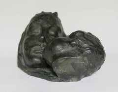 Mother With Child - Bronze, Sculpture, Figurative, Art deco, 1920's