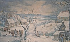 Winterlandschaft (Winter Landscape) - New Objectivity, German, Oil/Canvas, 1920