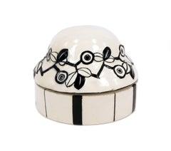 Vienna Werkstatte Ceramics, Gmundner Keramik, round bowl, by Berthold Löffler