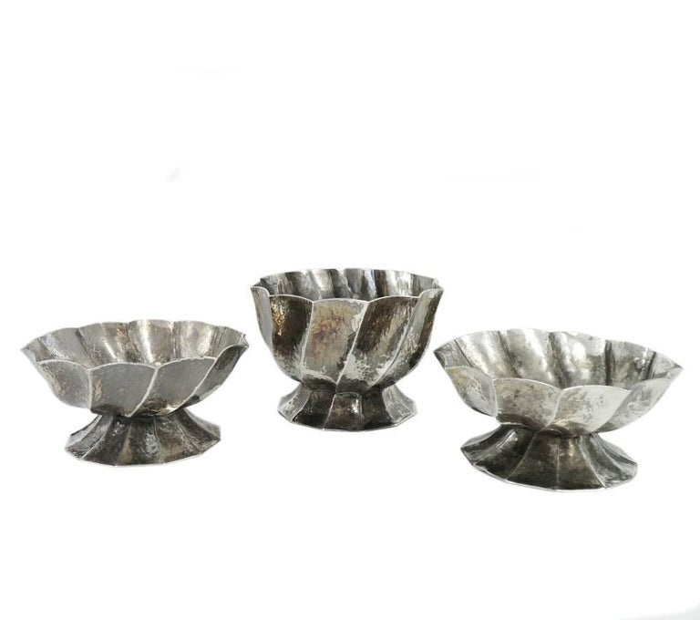 Josef Hoffmann for Wiener Werkstätte, 3 Pieces of Brass Ashtrays, circa 1928 - Art by Josef Hoffmann
