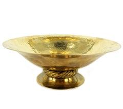 Josef Hoffmann for Wiener Werkstätte,  Big Bowl, Polished Brass, circa 1925