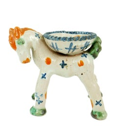 Vienna Werkstatte, Erna Kopriva, Ceramic Horse with bowl