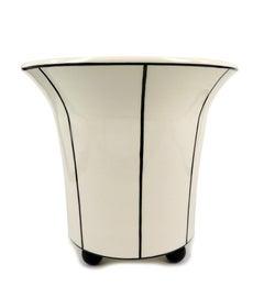 Two black-and-white Pots by Michael Powolny, Gmundner Keramik