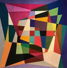 Geometric Abstract Original Painting - British Artist