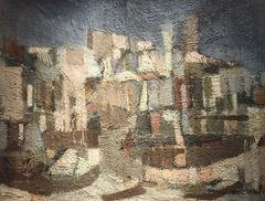 Amazing Mid 20th Century Cubist Abstract Cubist Oil Painting - Listed Artist