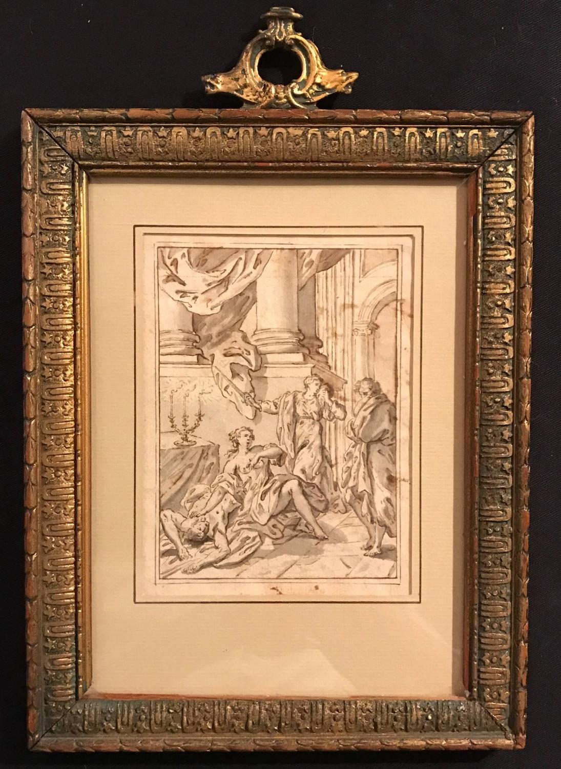 Unknown - 1700\'s Italian Baroque Old Master Drawing - Death of ...