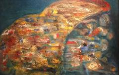 Stunning British 20th Century Abstract - Thick Impasto Oil - Bright Colours