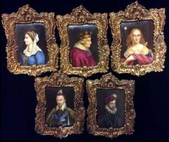 The European Royal Family - Group of Five 19th Century Portrait Miniatures