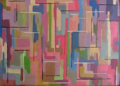 Abstract Oil Painting Circa 1970s 1980s Modern British Vintage