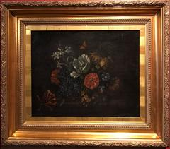17th Century Flemish Baroque Old Master Flower Oil Painting