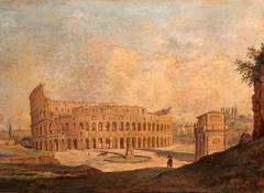 The Colosseum, Rome. Fine 19th Century Oil Painting - Grand Tour Work