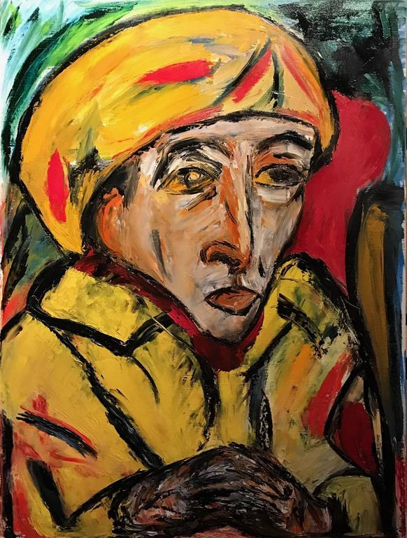 Striking French Expressionist Oil Painting - Head Portrait 3