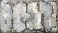 French abstract oil painting soft muted colors