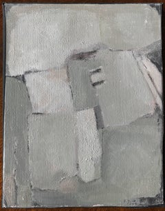 French abstract oil painting soft toning colors